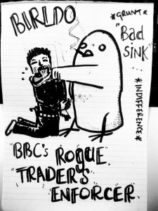 Birldo, BBC's Rogue Traders enforcer